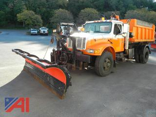 2002 International 4900 Dump Truck with Plow and Wing