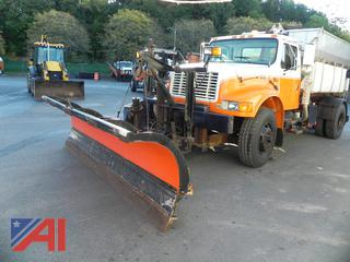 2002 International 4900 Truck with Sander, Plow and Wing
