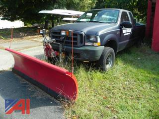 2003 Ford F250 Super Duty Pickup Truck with Plow