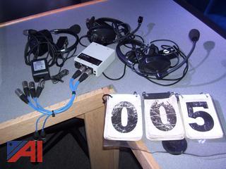 Clear Com Camera Headsets