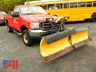 (T-32) 2004 Ford F250 XL Super Duty Pickup Truck with Plow