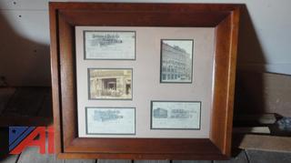 Old 1890's Syracuse Framed Bills of Lading