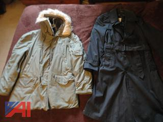 Extreme Weather Military Parka and Full Length Trench Coat