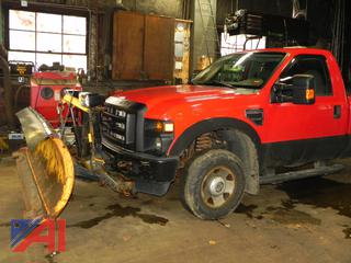 2009 Ford F250 XL Super Duty Pickup Truck with Plow