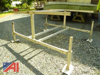 Free Standing Aluminum Kayak or Canoe Storage Rack