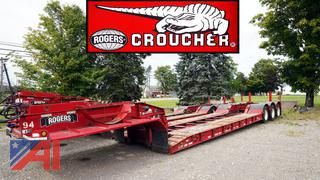 1994 Rogers XL45-98/52/20/102/3XAR Detachable Gooseneck Lowboy Semi Trailer