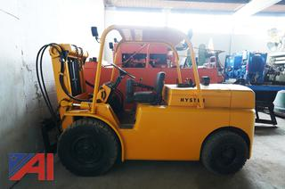 1980's Hyster 194A 2-Stage Forklift with 8,000Lbs Lift Attachment