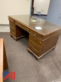Solid Hardwood and Veneer Desk