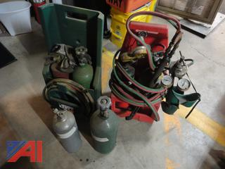 Oxy-Acetylene Carry Packs Bottles Gages and Torch Set