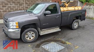 2010 Chevy Silverado 3500HD Pickup Truck with Plow