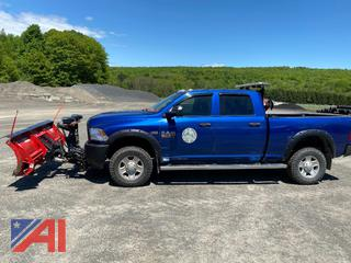 2016 Dodge Ram 2500 Pickup Truck with Plow & Back Rack