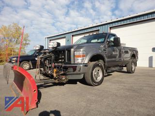 2010 Ford F350 XL Super Duty Pickup Truck w/ Plow