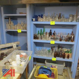 Large Lot of Antique Glass Bottles