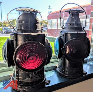 Antique L & N 4 Lens Railroad Lantern/Dressel Arlington