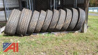 Tires Off of 10 Wheel Truck