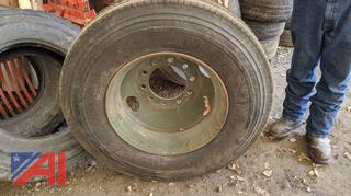 Drive Tire On Rim 11R22.5