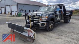 2011 Ford F550 Dump Truck & Plow