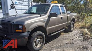 2007 Ford F250 Super Duty Pickup Truck & Plow