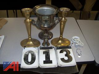 Silver Urn, Candlesticks and More