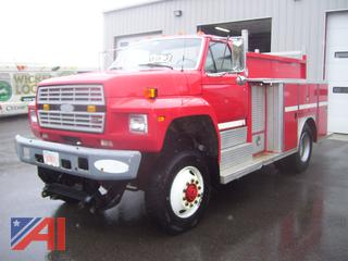 1989 Ford F600 Utility Truck