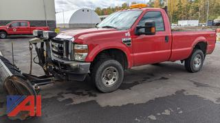 2009 Ford F250 XLT Super Duty Pickup Truck & Plow