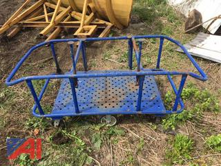 Blue Rolling Cart