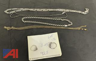 3.5 Grams of Marked 925 Sterling Jewelry