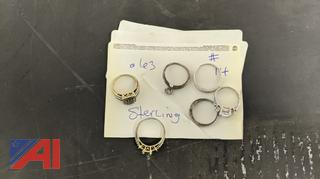 .63 Grams of Marked 925 Sterling Jewelry
