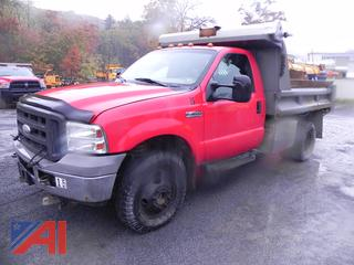 2005 Ford F350 XL Super Duty Pickup with Dump & Plow
