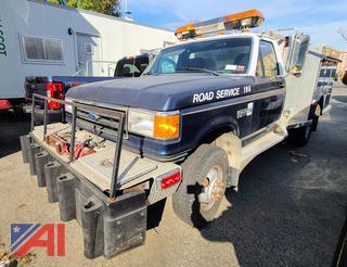 1990 Ford F350 XLT Lariat Utility Truck