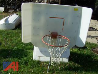Pool-Shot Basketball Hoop