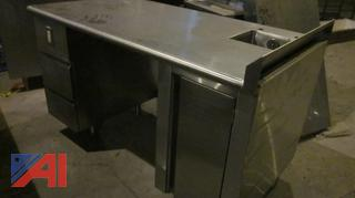 Stainless Steel Workstation with Sink and Drawers