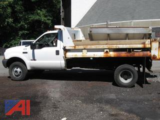 2003 Ford F350 XL Super Duty Dump Truck with Sander