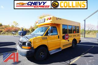 2010 Chevy/Collins Express G3500 Mid Size School Bus/1008
