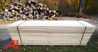 Banded Lift of 320BF of Air Dried Ash Lumber with (80) Boards