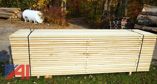 Banded Lift of 320BF of Air Dried Quarter Sawn Tulip Lumber with (54) Boards