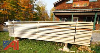 Banded Lift of 240BF of Air Dried Mixed Hardwood Lumber with (90) Boards