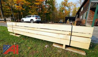 Banded Lift of 208BF of Air Dried Basswood Lumber with (18) Timber/Boards