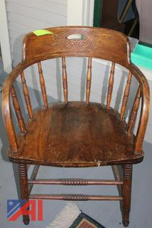 Antique Desk and Chairs
