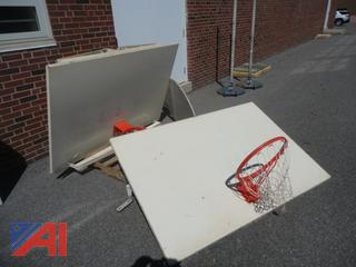 Sets of Basketball Hoops and Back Boards