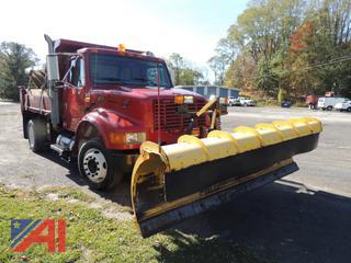 2001 International LP4700 Dump Truck with Plow & Sander