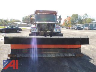 (T-8) 2003 International 7500 Dump Truck with Plow