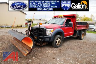 2012 Ford F550 XL Dump Truck with Plow