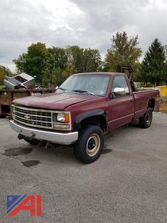1993 Chevy C2500 Pickup Truck w/ Detached Plow **Parts Only**