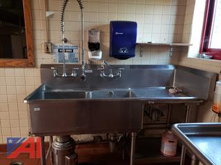 (#19) Stainless Steel 2 Bay Sink with Garbage Disposal