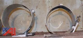 "8"" & 10"" Stainless Steel Repair Clamps-Never Used"