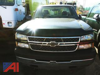 2005 Chevy Silverado 2500HD Pickup Truck with Plow