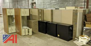 Various Desks & Filing Cabinets