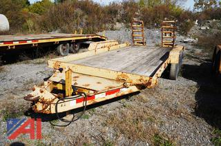 1985 Custom 16' Equipment Trailer with Twin Folding Ramps