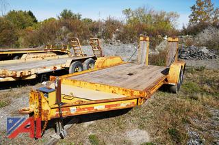 1996 Towmaster T-12 14' Equipment Trailer